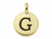 TierraCast Pewter Alphabet Charm Antique Gold Plated -  G