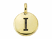 TierraCast Pewter Alphabet Charm Antique Gold Plated -  I