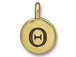 TierraCast Pewter Alphabet Charm Antique Gold Plated -  Theta
