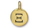 TierraCast Pewter Alphabet Charm Antique Gold Plated -  Xi