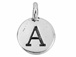 TierraCast Pewter Alphabet Charm Antique Silver Plated -  A