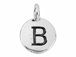 TierraCast Pewter Alphabet Charm Antique Silver Plated -  B