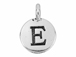 TierraCast Pewter Alphabet Charm Antique Silver Plated -  E