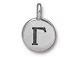 TierraCast Pewter Alphabet Charm Antique Silver Plated -  Gamma