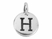 TierraCast Pewter Alphabet Charm Antique Silver Plated -  H