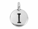 TierraCast Pewter Alphabet Charm Antique Silver Plated -  I