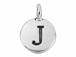 TierraCast Pewter Alphabet Charm Antique Silver Plated -  J