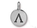 TierraCast Pewter Alphabet Charm Antique Silver Plated -  Lambda