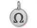 TierraCast Pewter Alphabet Charm Antique Silver Plated -  Omega