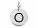 TierraCast Pewter Alphabet Charm Antique Silver Plated -  O