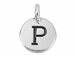 TierraCast Pewter Alphabet Charm Antique Silver Plated -  P