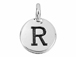TierraCast Pewter Alphabet Charm Antique Silver Plated -  R