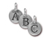 Pewter Alphabet Charms Antique Silver Plated -  Starter Set of 26 Charms