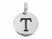 TierraCast Pewter Alphabet Charm Antique Silver Plated -  T