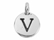 TierraCast Pewter Alphabet Charm Antique Silver Plated -  V