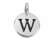 TierraCast Pewter Alphabet Charm Antique Silver Plated -  W