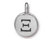 TierraCast Pewter Alphabet Charm Antique Silver Plated -  Xi