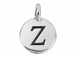 TierraCast Pewter Alphabet Charm Antique Silver Plated -  Zeta