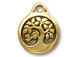 5 - TierraCast Antique Gold Bird in a Tree Drop