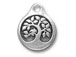 5 - TierraCast Antique Silver Bird in a Tree Drop