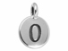 TierraCast Pewter Number Charm Antique Silver Plated - 0