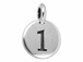 TierraCast Pewter Number Charm Antique Silver Plated - 1