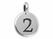 TierraCast Pewter Number Charm Antique Silver Plated - 2