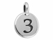 TierraCast Pewter Number Charm Antique Silver Plated - 3