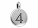 TierraCast Pewter Number Charm Antique Silver Plated - 4