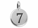 TierraCast Pewter Number Charm Antique Silver Plated - 7