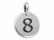 TierraCast Pewter Number Charm Antique Silver Plated - 8