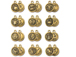 TierraCast Pewter Zodiac Sign Charms Antique Gold Plated -  Starter Set of 12
