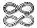 4 - TierraCast Antique Pewter Infinity Link