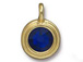 Cobalt - TierraCast Bright Gold Plated Pewter Stepped Bezel Charm with Swarovski Stone