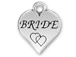 Pewter Heart with Bride Charm