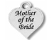 Pewter Heart with Mother of the Bride Charm