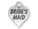 Pewter Heart with Bride&#39 s Maid Charm