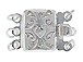 Sterling Silver 3 Strand Filigree Clasp