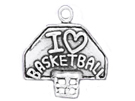 Basketball - Sterling Silver Charms