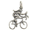 Bike Riding - Sterling Silver Charms