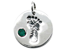 Foot Print Birthstone Charms