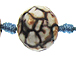 16mm MultiTone Faceted Round Fire Agate Gemstone Bead Strand
