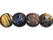 "8mm Multi Tiger Eye Round Faceted Gemstone Beads Full 15"" Strand"