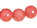10mm Peach Coral Faceted Round