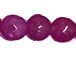 6mm Faceted Round Jade Dark Bodacious Purple