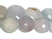 Light Blue Chalcedony Faceted Beads