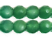 6mm Faceted Round Emerald Green Agate Bead Strand