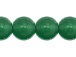 8mm Faceted Round Emerald Green Agate Bead Strand