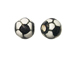 Ceramic Small Soccer Ball Bead - Bulk Pack of 100pcs