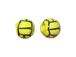 Ceramic Small Water Polo Ball Bead - Bulk Pack of 100pcs